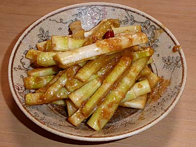 ねまがりたけ 根曲がり竹の味噌炒め