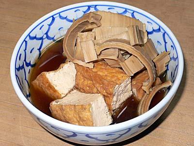 干しタケノコと厚揚げの煮物